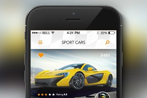 Rent a Sport Car - Concept App