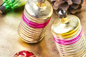 Christmas glass vintage baubles