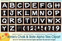 Annie's Chalk and Slate Alpha Tiles
