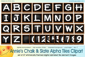 Annie's Chalk and Slate Alpha Tiles