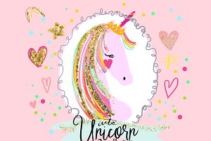 Unicorn illustration clipart