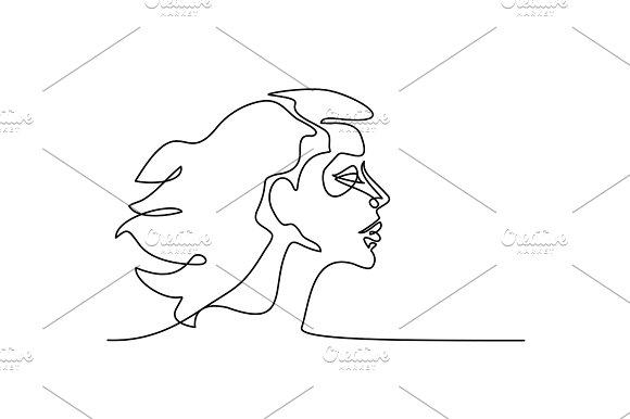 Abstract Portrait Of A Woman