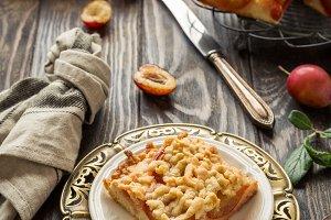 Plum crumb cake