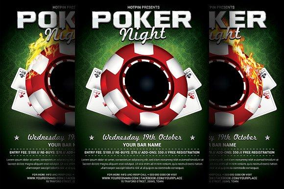Poker Night Flyer Template Bundle Flyer Templates Creative Market