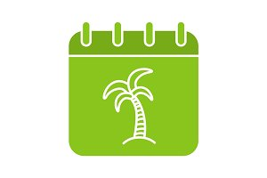 Vacations days glyph color icon