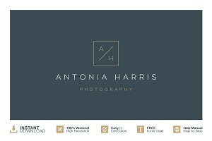 Instant Download Photography Logo