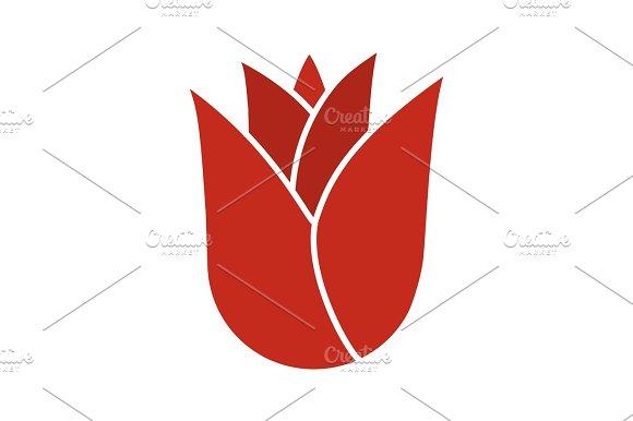 Rosebud Glyph Color Icon