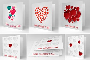 Valentine's Day BIG vector card pack