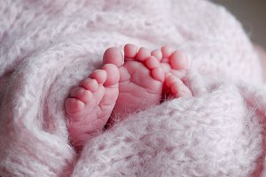 pink heels two babies