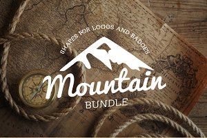 Shapes: LovePowerDesigns - Mountain Shapes For Logos Bundle