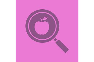 Healthy food search glyph color icon