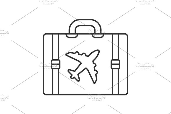 Travel Luggage Suitcase Linear Icon