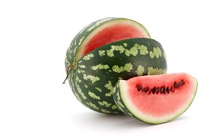 Fresh watermelon on white