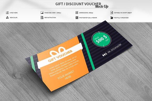 Free Gift / Discount Voucher Mock-Up