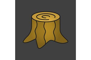 Stump color icon