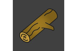 Firewood color icon