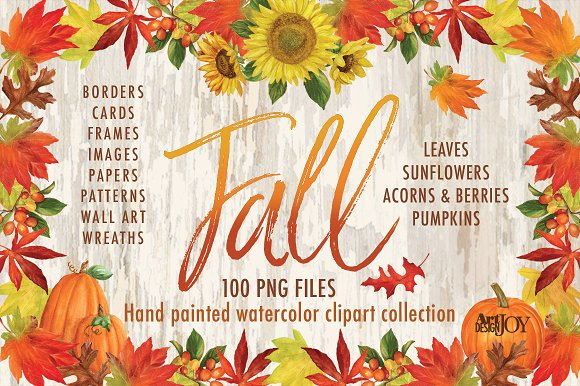 Watercolor Fall Clipart Illustrations Creative Market