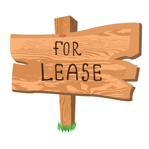 Wooden Sign For Lease Vector