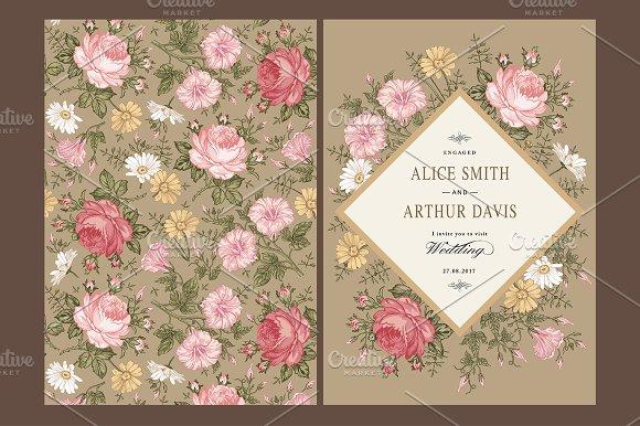 Wedding Flowers Rose Card Frame