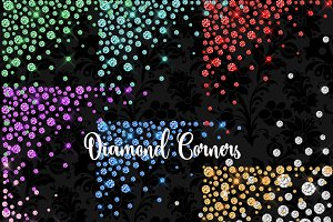 Diamond Corners Clipart