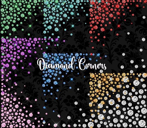 Diamond Corners Clipart
