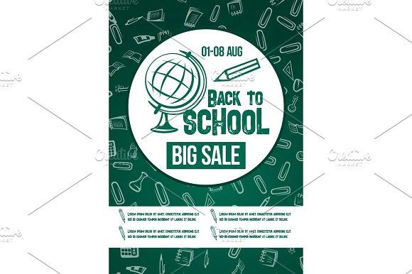 Back To School Vector Chalkboard Sale Poster