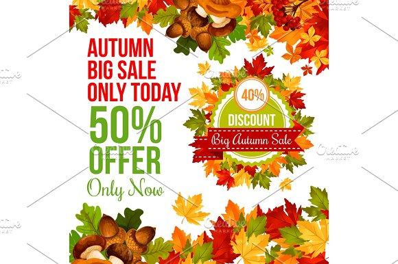 Autumn Sale Discount Offer Banner Template Design