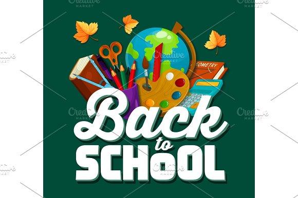 Back To School Vector Chalkboard Poster