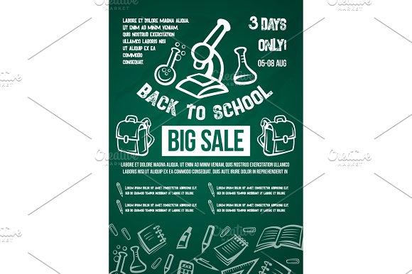 Back To School Vector Big Sale Offer Poster