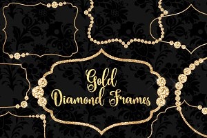 Gold Diamond Frames Clipart
