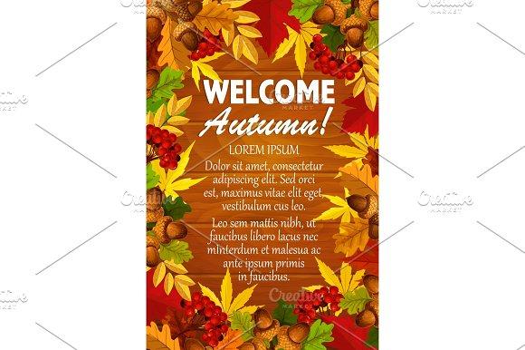 Autumn Vector Maple Leaf Foliage Rowanbery Poster