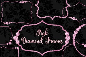 Pink Diamond Frames Clipart
