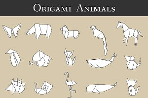 Origami animal vector