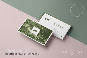 Flora No. 1 — Business Card Template