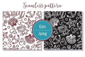 Sea pattern. Seamless.