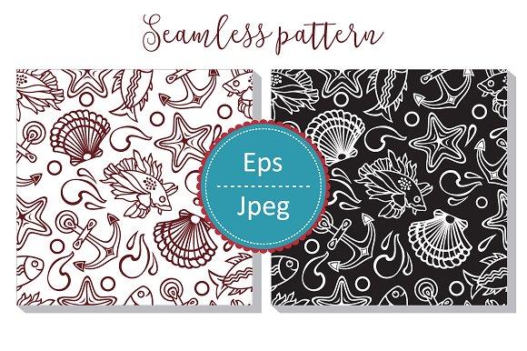 Sea Pattern Seamless