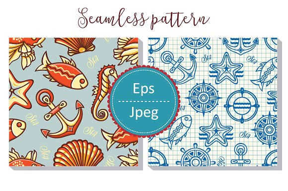 Sea Pattern Seamless