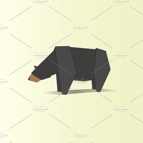 Origami Animal Vector
