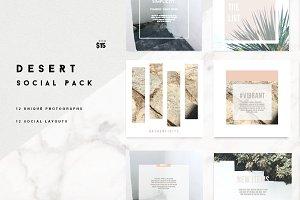 Desert Instagram Pack 12 layouts