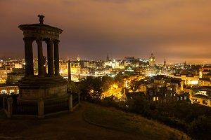 Edinburgh evening long exposure