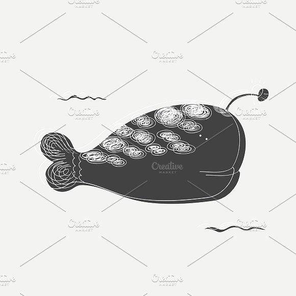 Underwater Whale Vector