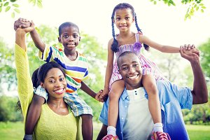 African family enjoying outdoors