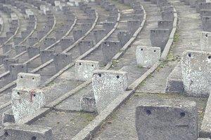 Ruined stadium