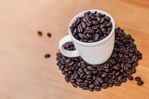 Coffee Beans In Cup 4