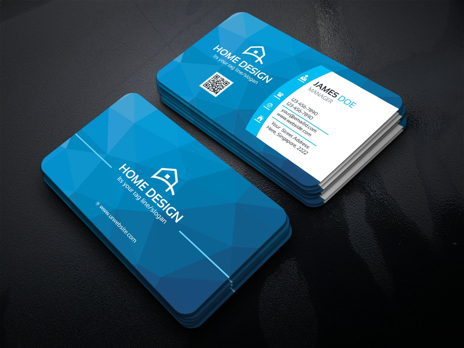 Home Design Business Card ~ Business Card Templates ~ Creative Market