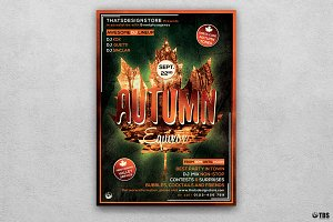 Autumn Equinox Flyer Template V2