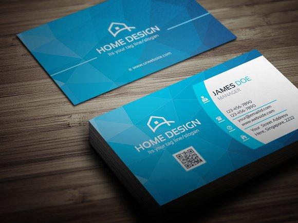 home design card.  Home Design Business Card Templates Creative Market