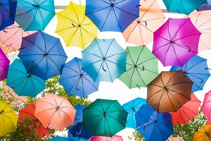 colour umbrella background.