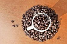 Coffee Beans In Cup 3