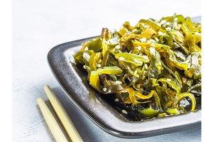 Seaweed salad, laminaria